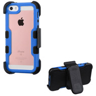 TUFF Vivid Hybrid Armor Case with Holster for iPhone SE / 5S / 5 - Blue