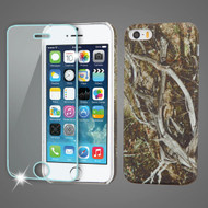 Mod Leather Graphic Case and Tempered Glass Screen Protector for iPhone SE / 5S / 5 - Tree