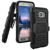 Advanced Armor Hybrid Kickstand Case with Holster for Samsung Galaxy S7 Active - Black