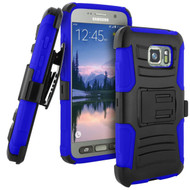 Advanced Armor Hybrid Kickstand Case with Holster for Samsung Galaxy S7 Active - Black Blue