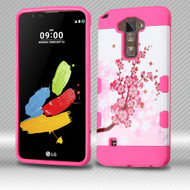 Military Grade Certified TUFF Trooper Dual Layer Hybrid Armor Case for LG G Stylo 2 / Stylus 2 - Spring Flowers