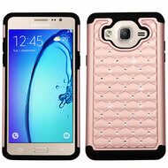 TotalDefense Diamond Hybrid Case for Samsung Galaxy On5 - Rose Gold