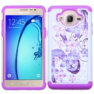 TotalDefense Diamond Hybrid Case for Samsung Galaxy On5 - Purple Hibiscus Flower Romance
