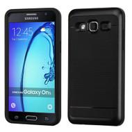 Bumper Frame Hybrid Case for Samsung Galaxy On5 - Black