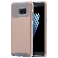 Glossimer UV Coating Dual-Layer Hybrid Armor Case for Samsung Galaxy Note 7 - Gold Grey