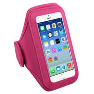 Neoprene Sport Fitness Armband - Hot Pink