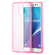 Glassy Transparent Gummy Cover for Samsung Galaxy Note 7 - Hot Pink