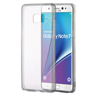 Glassy Transparent Gummy Cover for Samsung Galaxy Note 7 - Smoke