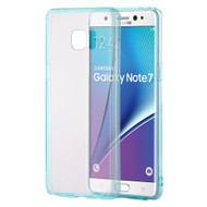 Glassy Transparent Gummy Cover for Samsung Galaxy Note 7 - Blue