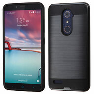 Brushed Hybrid Armor Case for ZTE Zmax Pro / Grand X Max 2 / Imperial Max / Max Duo 4G - Black