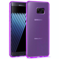 Rubberized Crystal Case for Samsung Galaxy Note 7 - Purple