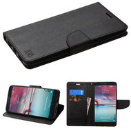 Diary Leather Wallet Case for ZTE Zmax Pro / Grand X Max 2 / Imperial Max / Max Duo 4G - Black