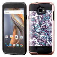 Brushed Graphic Hybrid Armor Case for Coolpad Catalyst - Persian Paisley