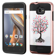 *Sale* Brushed Graphic Hybrid Armor Case for Coolpad Catalyst - Love Tree