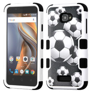 Military Grade Certified TUFF Image Hybrid Armor Case for Coolpad Catalyst - Soccer Ball
