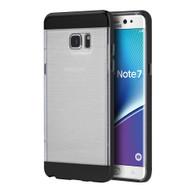 Flexsilk Bumper Frame Transparent Hybrid Case for Samsung Galaxy Note 7 - Black