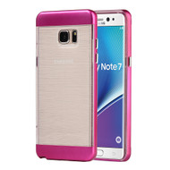Flexsilk Bumper Frame Transparent Hybrid Case for Samsung Galaxy Note 7 - Hot Pink