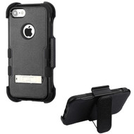 Military Grade Certified TUFF Hybrid Armor Kickstand Case with Holster for iPhone 8 / 7 - Black