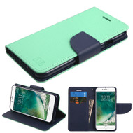 Diary Leather Wallet Case for iPhone 8 / 7 - Teal
