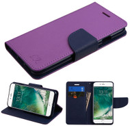 Diary Leather Wallet Case for iPhone 8 / 7 - Purple