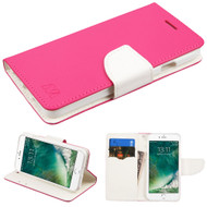 Diary Leather Wallet Case for iPhone 8 / 7 - Hot Pink