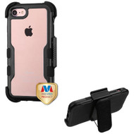 TUFF Vivid Hybrid Armor Case with Holster for iPhone 8 / 7 - Black