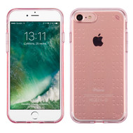 Perforated Transparent Cushion Gelli Skin Cover for iPhone 8 / 7 - Rose Gold