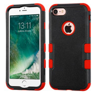 Military Grade Certified TUFF Hybrid Armor Case for iPhone 8 / 7 - Black Red