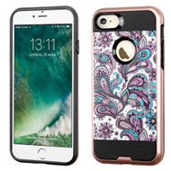 Brushed Graphic Hybrid Armor Case for iPhone 8 / 7 - Persian Paisley