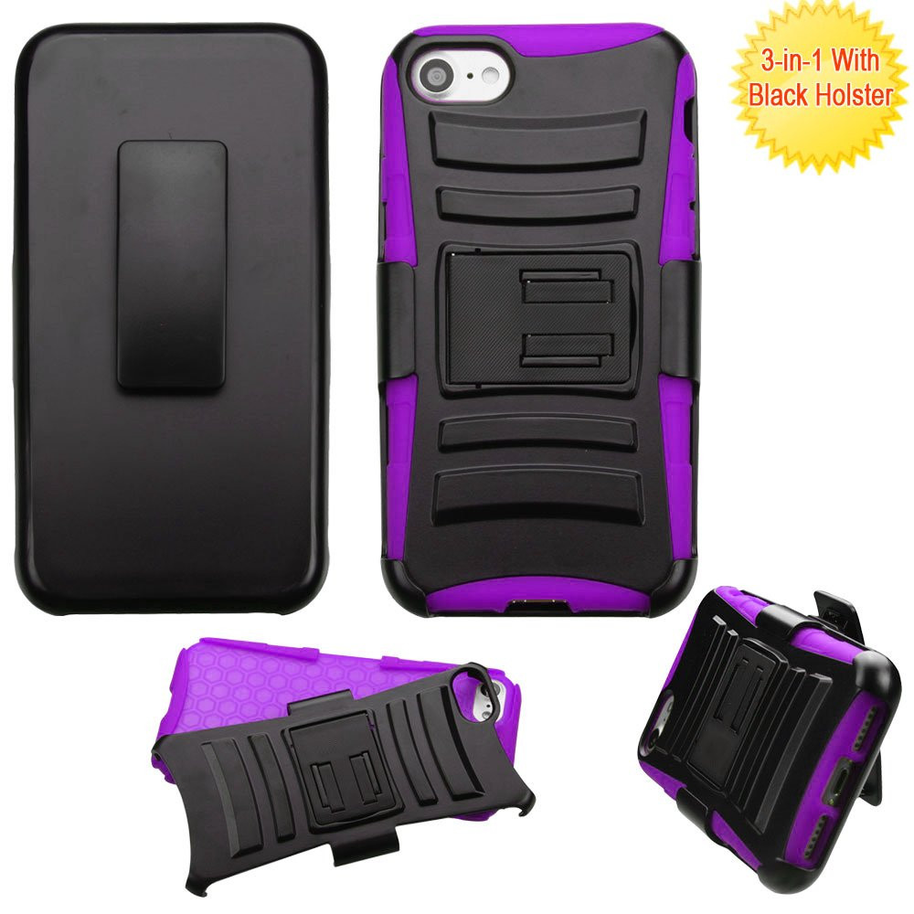 Advanced Armor Hybrid Kickstand Case With Holster For