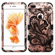 *SALE* Military Grade TUFF Image Hybrid Armor Case for iPhone 8 Plus / 7 Plus - Phoenix Flower Rose Gold