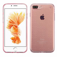 Perforated Transparent Cushion Gelli Skin Cover for iPhone 8 Plus / 7 Plus - Rose Gold