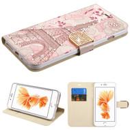 *SALE* Art Design Portfolio Leather Wallet for iPhone 8 Plus / 7 Plus - Eiffel Tower