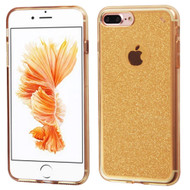 Premium Sparkling Sheer Glitter Candy Skin Cover for iPhone 8 Plus / 7 Plus - Gold