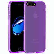 Rubberized Crystal Case for iPhone 8 Plus / 7 Plus - Purple