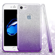 Full Glitter Hybrid Protective Case for iPhone 8 / 7 - Gradient Purple