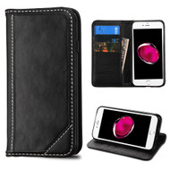 Mybat Genuine Leather Wallet Case for iPhone 8 Plus / 7 Plus - Black
