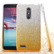 Full Glitter Hybrid Protective Case for ZTE Zmax Pro - Gradient Gold