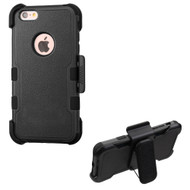Military Grade Certified TUFF Hybrid Armor Case with Holster for iPhone 6 Plus / 6S Plus - Black
