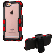 TUFF Vivid Hybrid Armor Case with Holster for iPhone 6 Plus / 6S Plus - Black Red