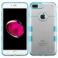 Co-Molded Impact Absorbing Transparent Case for iPhone 8 Plus / 7 Plus - Blue