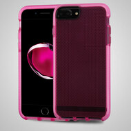 Contempo Series Shockproof TPU Case for iPhone 7 Plus - Hot Pink