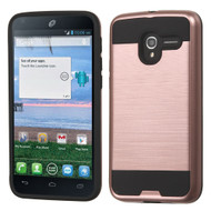 Brushed Hybrid Armor Case for Alcatel Stellar / TRU - Rose Gold