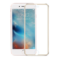 HD Curved Coverage Premium Tempered Glass Screen Protector with Titanium Alloy Bezel for iPhone 8 Plus / 7 Plus - Gold