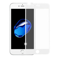3D Curved Soft Edge Carbon Fiber Tempered Glass Screen Protector for iPhone 8 / 7 - White
