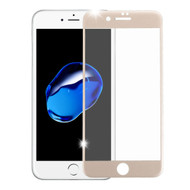 3D Curved Soft Edge Carbon Fiber Tempered Glass Screen Protector for iPhone 8 / 7 - Gold