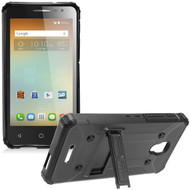 Extreme Armor Hybrid Case with Stand for Alcatel Fierce 4 / OneTouch Allura / Pop 4 Plus - Black