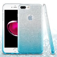 Full Glitter Hybrid Protective Case for iPhone 8 Plus / 7 Plus - Gradient Blue