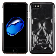 3D Skull Executive Leather Back Protector Cover for iPhone 8 / 7 - Black