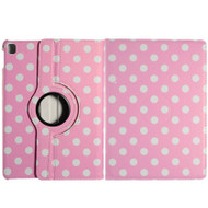 *SALE* 360 Degree Smart Rotary Leather Case for iPad Pro 9.7 inch - Polka Dots Pink